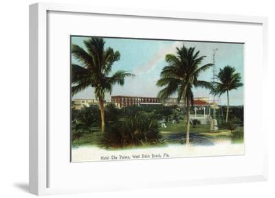 West Palm Beach, Florida - The Palms Hotel Exterior View-Lantern Press-Framed Art Print