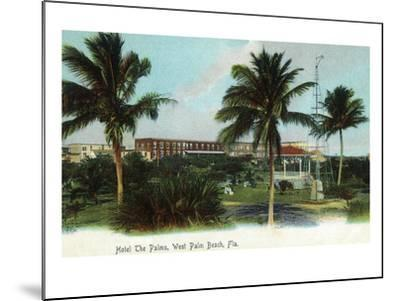 West Palm Beach, Florida - The Palms Hotel Exterior View-Lantern Press-Mounted Art Print