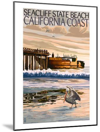 Seacliff State Beach, California Coast-Lantern Press-Mounted Art Print
