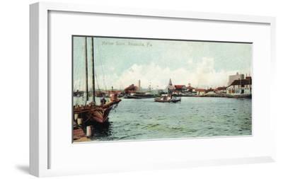 Pensacola, Florida - Harbor Scene-Lantern Press-Framed Art Print