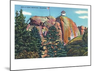 Colorado - View of Devil's Head Mountain Lookout Tower-Lantern Press-Mounted Art Print