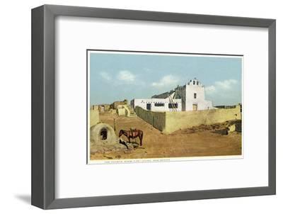 Laguna Pueblo, New Mexico - View of the Church-Lantern Press-Framed Art Print