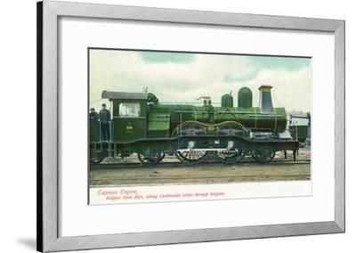 View of a Belgian Express Engine-Lantern Press-Framed Art Print