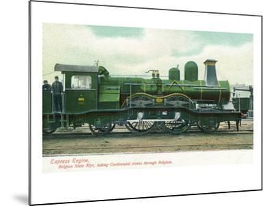 View of a Belgian Express Engine-Lantern Press-Mounted Art Print