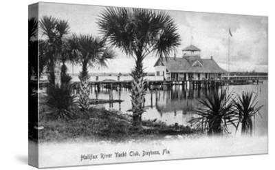 Daytona Beach, Florida - Halifax River Yacht Club Scene-Lantern Press-Stretched Canvas Print