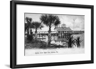 Daytona Beach, Florida - Halifax River Yacht Club Scene-Lantern Press-Framed Art Print