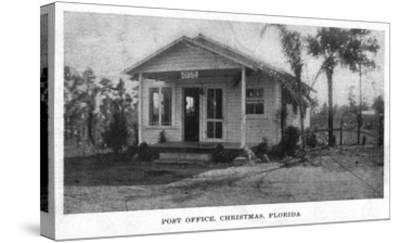 Christmas, Florida - Post Office Building-Lantern Press-Stretched Canvas Print