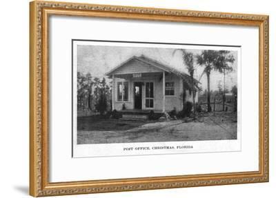 Christmas, Florida - Post Office Building-Lantern Press-Framed Art Print