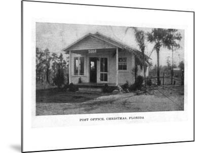 Christmas, Florida - Post Office Building-Lantern Press-Mounted Art Print