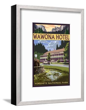 Wawona Hotel - Yosemite National Park - California-Lantern Press-Framed Art Print