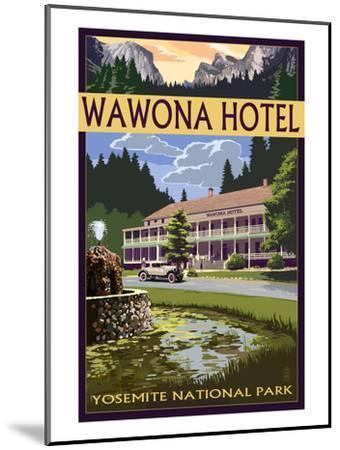 Wawona Hotel - Yosemite National Park - California-Lantern Press-Mounted Art Print