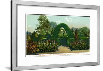 California - Hotel Del Monte View of the Maze Near Monterey-Lantern Press-Framed Art Print