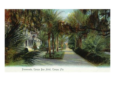 Tampa, Florida - Tampa Bay Hotel Exterior View from Promenade-Lantern Press-Framed Art Print