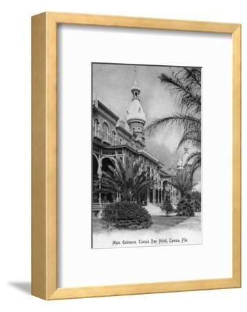 Tampa, Florida - Tampa Bay Hotel Main Entrance View-Lantern Press-Framed Art Print