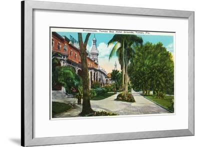 Tampa, Florida - Tampa Bay Hotel Promenade Scene-Lantern Press-Framed Art Print