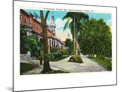 Tampa, Florida - Tampa Bay Hotel Promenade Scene-Lantern Press-Mounted Art Print