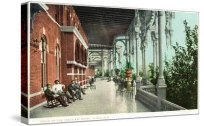 Tampa, Florida - Tampa Bay Hotel Porch Scene-Lantern Press-Stretched Canvas Print