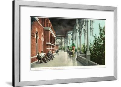 Tampa, Florida - Tampa Bay Hotel Porch Scene-Lantern Press-Framed Art Print