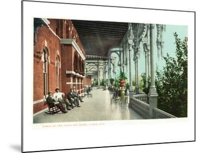 Tampa, Florida - Tampa Bay Hotel Porch Scene-Lantern Press-Mounted Art Print