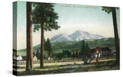 Sisson, California - View of Mt Shasta, Now Mt Shasta City-Lantern Press-Stretched Canvas Print