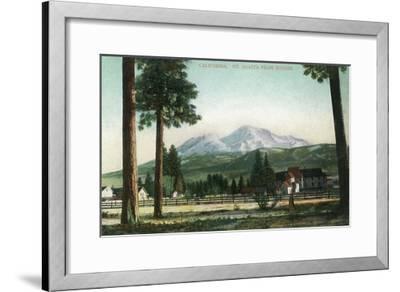 Sisson, California - View of Mt Shasta, Now Mt Shasta City-Lantern Press-Framed Art Print