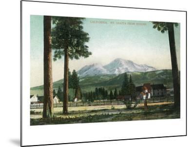 Sisson, California - View of Mt Shasta, Now Mt Shasta City-Lantern Press-Mounted Art Print