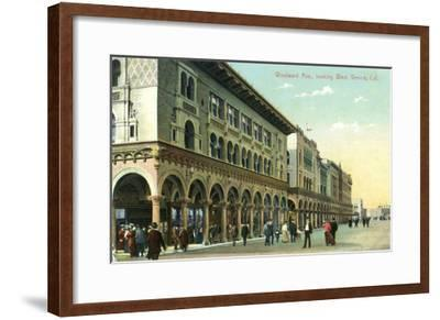 Venice, California - Western View Down Windward Avenue-Lantern Press-Framed Art Print