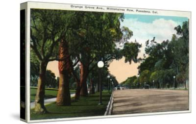 Pasadena, California - Millionaire Row, Orange Grove Avenue-Lantern Press-Stretched Canvas Print