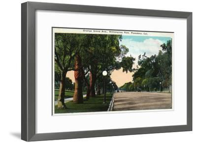 Pasadena, California - Millionaire Row, Orange Grove Avenue-Lantern Press-Framed Art Print