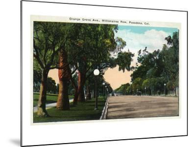 Pasadena, California - Millionaire Row, Orange Grove Avenue-Lantern Press-Mounted Art Print