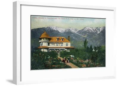 Pasadena, California - Picking Flowers Near Mount Wilson-Lantern Press-Framed Art Print