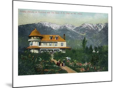 Pasadena, California - Picking Flowers Near Mount Wilson-Lantern Press-Mounted Art Print