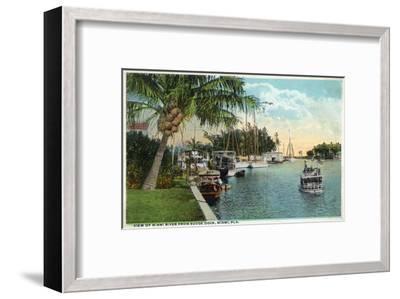Miami, Florida - Miami River from Budge Dock-Lantern Press-Framed Art Print