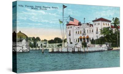 Miami, Florida - Villa Vizcaya, James Deering Estate Scene-Lantern Press-Stretched Canvas Print