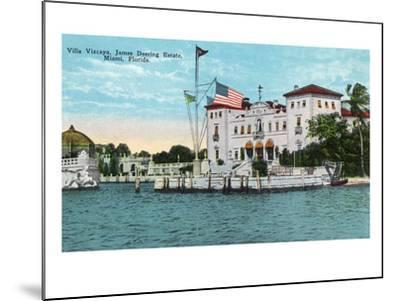 Miami, Florida - Villa Vizcaya, James Deering Estate Scene-Lantern Press-Mounted Art Print
