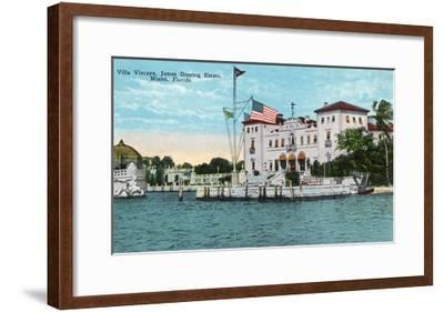 Miami, Florida - Villa Vizcaya, James Deering Estate Scene-Lantern Press-Framed Art Print