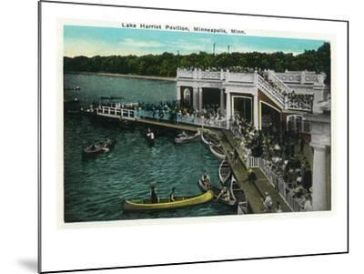 Minneapolis, Minnesota - View of Lake Harriet Pavilion-Lantern Press-Mounted Art Print