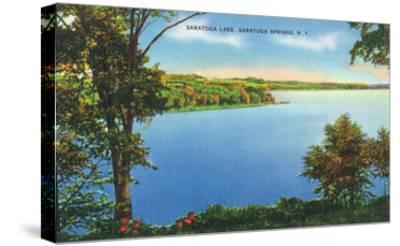 Saratoga Springs, New York - View of Saratoga Lake-Lantern Press-Stretched Canvas Print