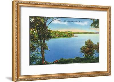 Saratoga Springs, New York - View of Saratoga Lake-Lantern Press-Framed Art Print