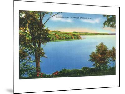 Saratoga Springs, New York - View of Saratoga Lake-Lantern Press-Mounted Art Print
