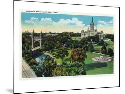 Hartford, Connecticut - Bushnell Park Scene-Lantern Press-Mounted Art Print