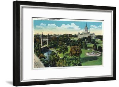 Hartford, Connecticut - Bushnell Park Scene-Lantern Press-Framed Art Print