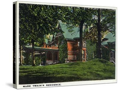 Hartford, Connecticut - Mark Twain's House-Lantern Press-Stretched Canvas Print