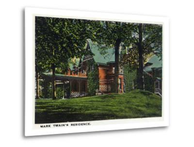 Hartford, Connecticut - Mark Twain's House-Lantern Press-Metal Print
