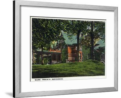 Hartford, Connecticut - Mark Twain's House-Lantern Press-Framed Art Print