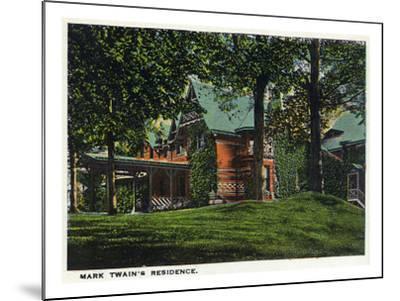 Hartford, Connecticut - Mark Twain's House-Lantern Press-Mounted Art Print