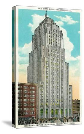 Cleveland, Ohio - Oh Bell Telephone Co Building Exterior-Lantern Press-Stretched Canvas Print