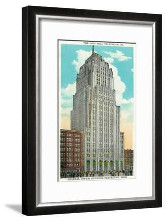 Cleveland, Ohio - Oh Bell Telephone Co Building Exterior-Lantern Press-Framed Art Print