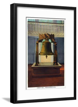 Philadelphia, Pennsylvania - Independence Hall Liberty Bell Scene-Lantern Press-Framed Art Print