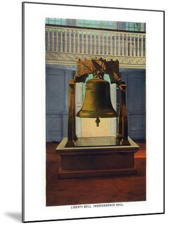 Philadelphia, Pennsylvania - Independence Hall Liberty Bell Scene-Lantern Press-Mounted Art Print